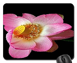 Pink Lotus Mouse Pad, Mousepad (Flowers Mouse Pad, Watercolor style)