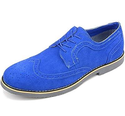 Alpine Swiss Men's Beau Dress Shoes Genuine Wing Tip Oxfords