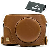 MegaGear Ever Ready Protective Leather Camera Case, Bag for Panasonic LUMIX LX100, DMC-LX100 Camera (Light Brown)