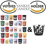 Yankee Candle 8 Assorted Votives + FREE Votive Holder Variety Theme (Christmas)