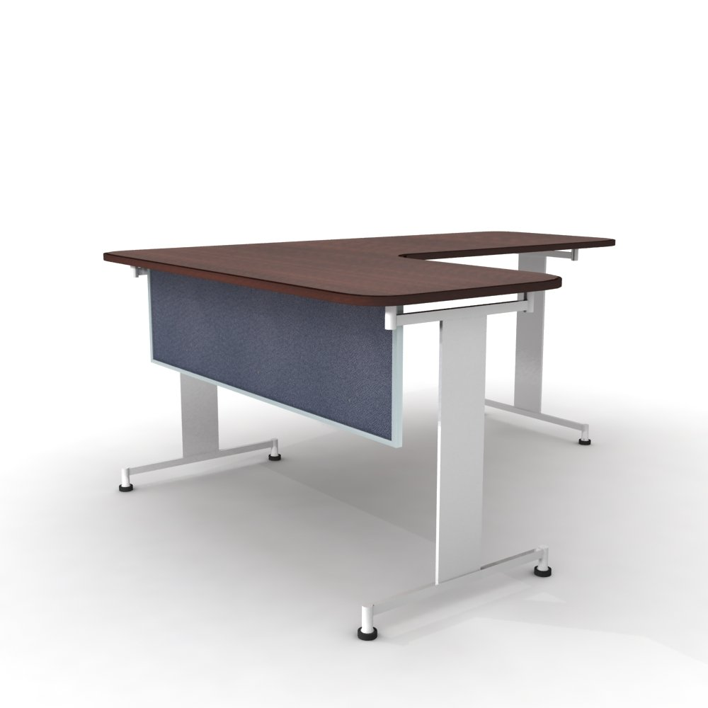 Obex 18X48A-A-TW-MP 18'' Acoustical Desk and Table Mounted Modesty Panel, Twilight, 18'' x 48''