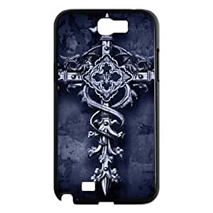 DIY Cover Case with Hard Shell Protection for Samsung Galaxy Note 2 N7100 case with Vintage Cross lxa#864695