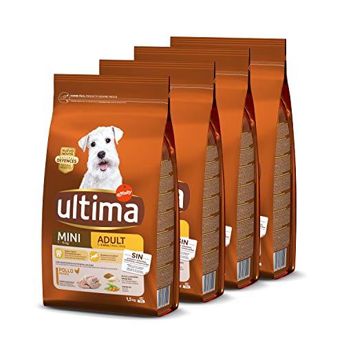 Ultima Pienso para Perros Mini con Pollo – Pack de 4 x 1.5 kg, Total: 6 kg