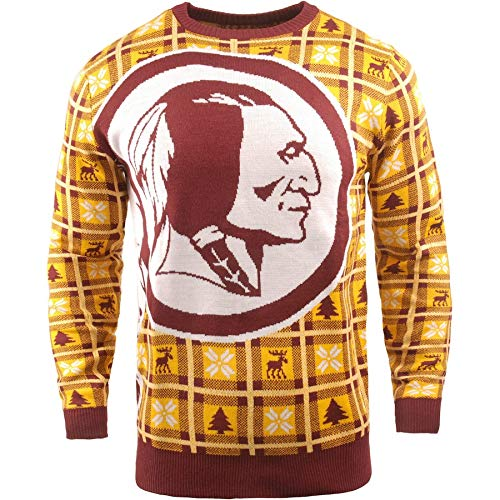 online store e9d3a b511a BIG NFL Ugly Sweater Pullover Christmas Washington Redskins ...