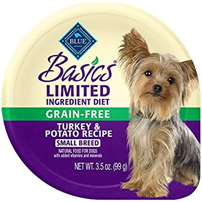 Blue Buffalo Basics Limited Ingredient Diet, Grain Free Natural Adult Small Breed Wet Dog Food Cups