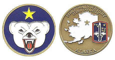 Fort Wainwright 172nd Infantry Base Challenge Coin (Military Fort)