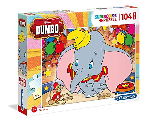 Clementoni Supercolor Puzzle Dumbo 104 Pezzi Maxi Multicolore 23728