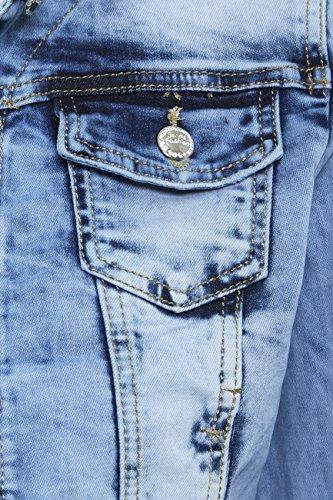36 Jeans En Délavé Bleu Tailles Jeans À 44 Ss7 Nouvelles Femmes Extensible Veste Bfw0qaT