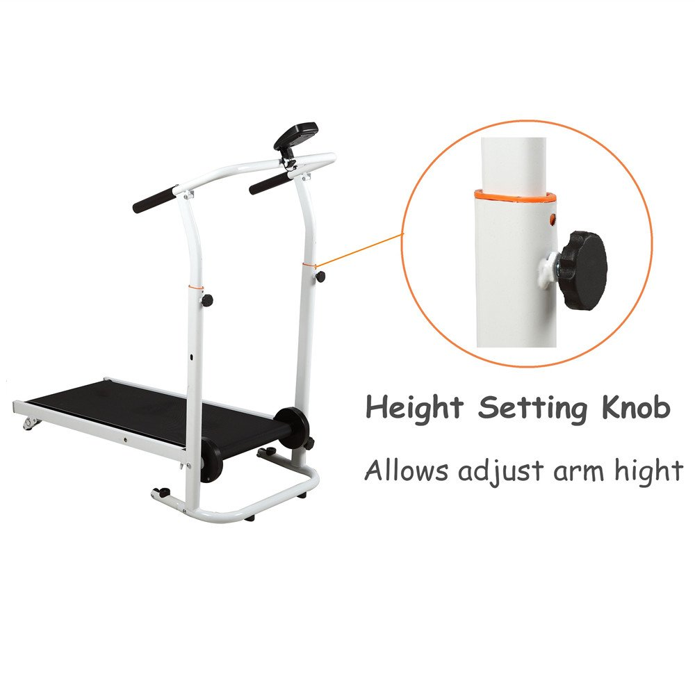 Artist Hand Folding Manual Treadmill Incline Home Gym Maching Cardio Stride Fitness Walking Workouts with Twin Flywheels No Monitor Required by Artist Hand (Image #3)