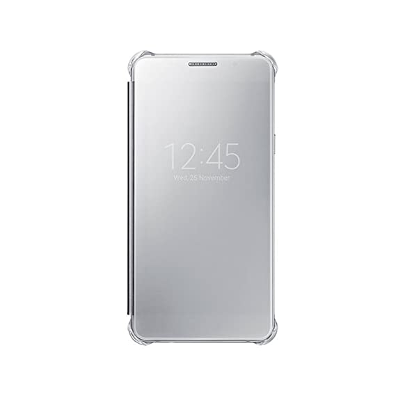 big sale 54382 ee8f4 Samsung Galaxy A7(6) Clear View Cover (Silver): Amazon.in: Electronics
