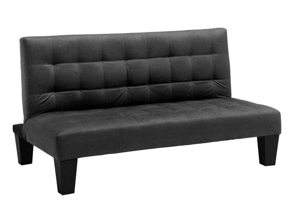 DHP Ariana Junior Microfiber Sofa Futon Couch, Black, Perfect For Childrens Playroom