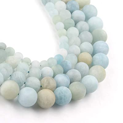 4mm 6mm 8mm 10mm 12mm Natural Matte Green Fluorite Beads Stone for Bracelet Necklace Diy Jewelry Making Energy Gemstone Spacer Beads 15inch
