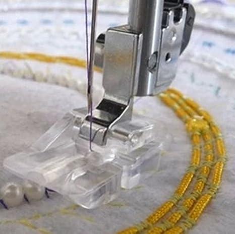 honeysew doméstica Máquina de coser perlas y lentejuelas pie redondo con pie, se ajuste a Singer/Brother//Viking ...