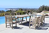Renaissance 9-Piece Outdoor Hand-Scraped Hardwood Dining Set with Rectangle Extension Table and 8 Arm Chairs Review