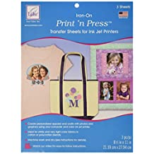 June Tailor Cosmo Cricket Print 'N Press Iron-On Transfer Paper, 8.5 by 11-Inch, 3 Per Package