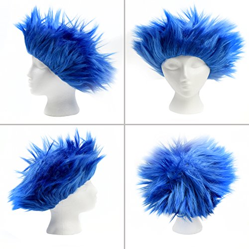 Fluffy Blue Wig, Dr Seuss Character Wig - Thing 1 & Thing 2 Costume Wig   Sticking Up Style Wig   Costume Party Wig