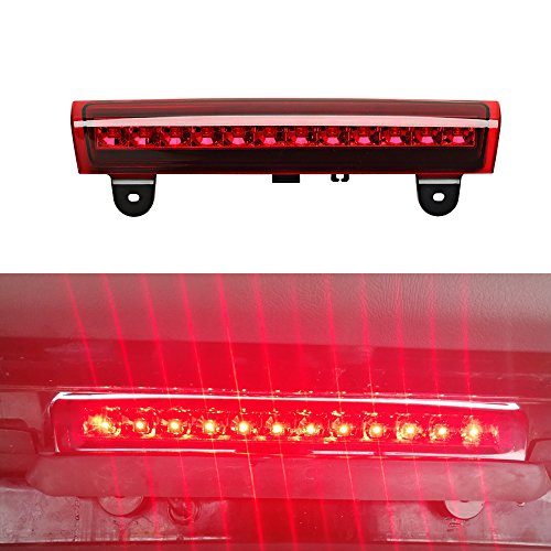 (For 2000-2006 GM Chevrolet Tahoe/Suburban/GMC Yukon High Mount LED Rear 3RD Brake/Stop LED Light (Red)