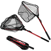 ENKEEO Foldable Fishing Net Triangular Landing Net with...