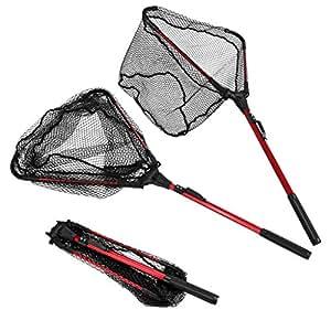 Enkeeo foldable fishing net triangular for Amazon fishing net