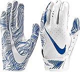 Nike Adult Vapor Jet 5.0 Receiver Gloves 2018 (White/Royal, Small)