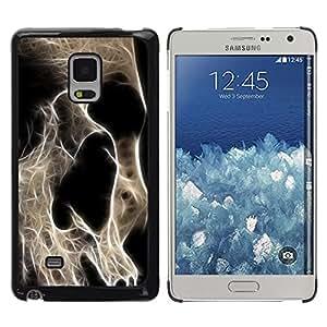 TECHCASE**Cubierta de la caja de protección la piel dura para el ** Samsung Galaxy Mega 5.8 9150 9152 ** Skeleton Skull Art Death Head Anatomy