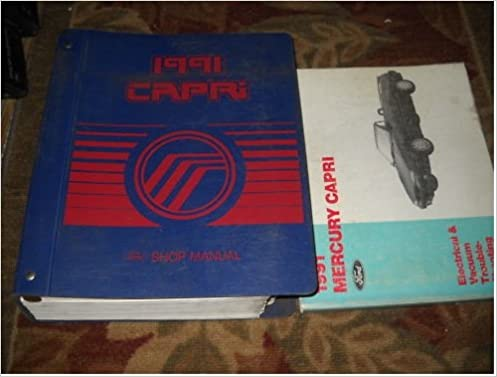 1991 mercury capri service repair shop manual set oem: ford: amazon com:  books