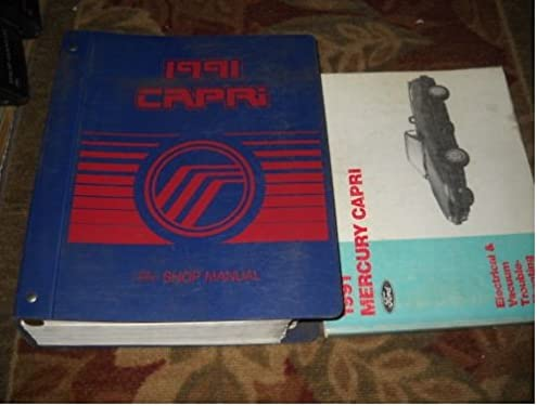 1991 mercury capri service repair shop manual set oem ford amazon Dodge Stealth Wiring-Diagram 1991 mercury capri service repair shop manual set oem ford amazon com books