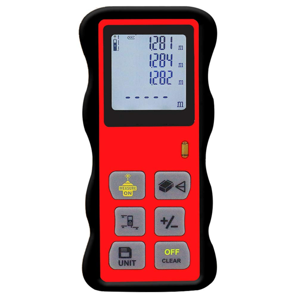 AUEDC Digital Laser Distance Meter, HD Backlight LCD 2.2-Inch Large Screen Laser Distance Measure Tool for Area Volume and Pythagorean Measurement,40m/131ft by AUEDC