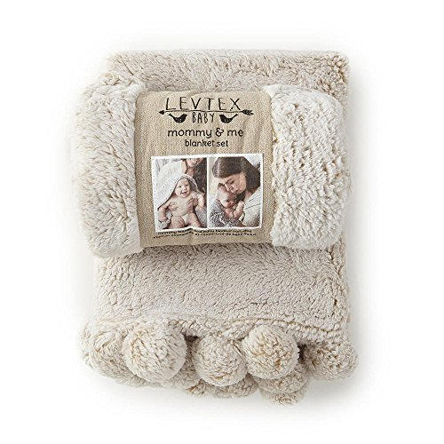 Levtex Baby Beige Heathered Mommy and Me Blanket