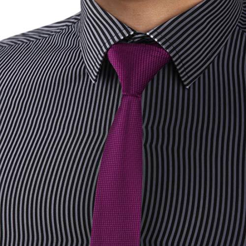 Dan Smith DAE2010 Medium Violet Red Luxury Slim Necktie Matching Present CheckeRed Mens Skinny Tie ST