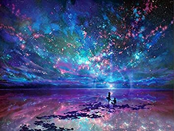 DIY Diamond Painting 5D Embroidery Home Office Wall Decor Star Sky 11.8*15.7