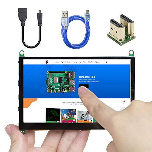 UCTRONICS 5 Inch Touch Screen for Raspberry Pi 4, 800×480 Portable Capacitive HDMI LCD Touchscreen Display Monitor for Pi 4 B, 3 B+, Windows 10 8 7 (Free Driver)