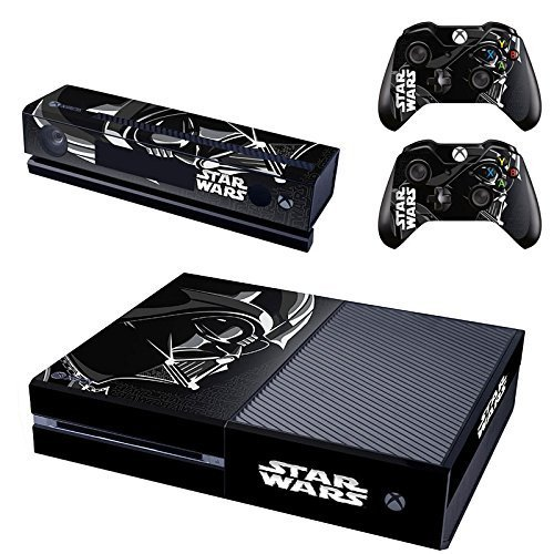 CAN-Designer-Skin-Sticker-for-the-Xbox-One-Console-With-Two-Wireless-Controller-Decals-Star-Wars-Darth-Vader-Black-Version-GSTM0177