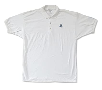 Amazon Com Incubus Embroidered Bird Logo Adult White Polo Golf