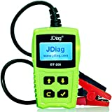 JDiag FasCheck BT200 12V Auto Battery Tester Car Cranking and Charging System Test Scan Tool Battery Analyzer Diagnostic Tool for CCA MCA JIS DIN IEC EN SAE GB etc