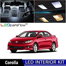 LEDpartsNOW Toyota COROLLA 2000-2014 Xenon White Premium LED Interior Lights Package Kit (6 Pieces) + TOOL