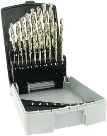 TIVOLY 11451070015 - Estuche E RECTIF 19 brocas metal punta en cruz HSS Ø 1>10 mm x 1/2: Amazon.es: Bricolaje y herramientas