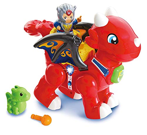 VTech Toot-Toot Friends Daring Dragon Interactive Baby Musical Toy, Dragon Toddler Toy with Music & Sound Effects, Includes Role Play Mode, Suitable for Boys & Girls 1, 2, 3, 4+ Year Olds -  Vtech Electronics, 519603
