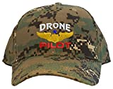 Spiffy Custom Gifts Drone Pilot with Wings Low Profile Baseball Cap Digital Camo