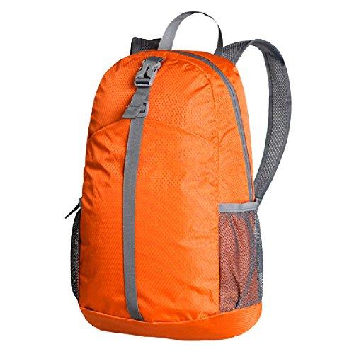 Xin.S20L Clásico Casual Plegable Bolso De Hombro Ultra-ligero Bolsa De Piel Durable Almacenamiento Portátil Mochila Alpinismo. Multicolor Orange