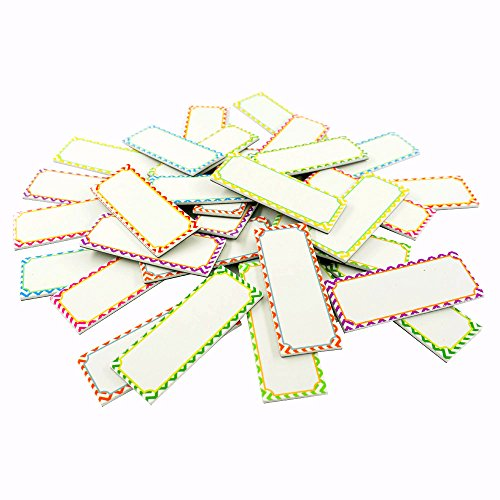 Magnetic dry erase Labels Name Plates white board 32 Labels 8 Colors,3.2'' x1.2'' by SpriteGru