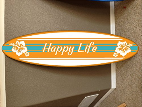 6' wall hanging surf board surfboard decor hawaiian beach surfing beach decor by Rad Grafix