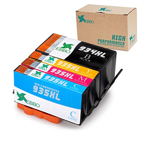 EBBO 934XL 935XL Compatible Ink Cartridges Replacement for HP 934 XL 935 XL Ink - Work with HP OfficeJet Pro 6830 6230 6815 6812 6835 6820 6220 Printer - 4-Pack (Black - Cyan - Magenta - Yellow)