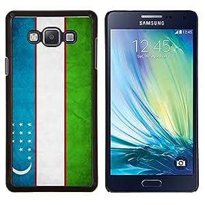YiPhone /// Prima de resorte delgada de la cubierta del caso de Shell Armor - Nacional bandera de la nación País Uzbekistán - Samsung Galaxy A7 A7000