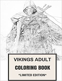 Vikings Adult Coloring Book Norse History And Scandinavian