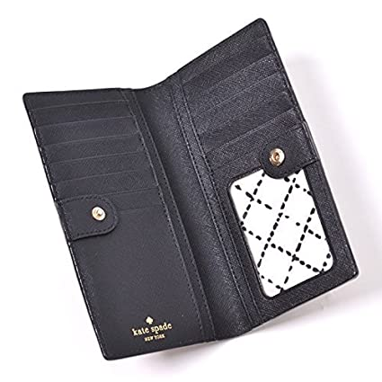 e5f8ae7ecd1b7 Kate Spade New York Laurel Way Stacy Saffiano Leather Wallet (Blk)... at  Amazon Women s Clothing store