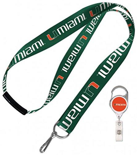 - WinCraft Miami Hurricanes The U, Break Away Lanyard and Badge Reel Gift Pack
