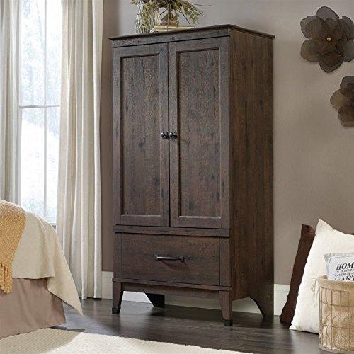 sauder-carson-forge-armoire-in-coffee-oak
