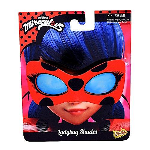 Bug Hunter Costume (Sunstaches Miraculous Ladybug Instant Costume Sunglasses Licenced)