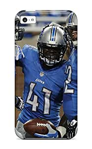 Durable Case For The Iphone 5c- Eco-friendly Retail Packaging(detroit Lions )